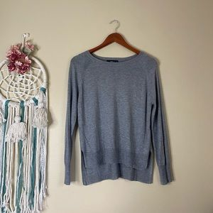Zara Knit Lightweight Sweater Gray Size Medium